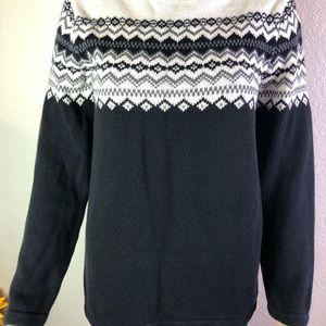 EDDIE  BAUER beautiful sweater black size M